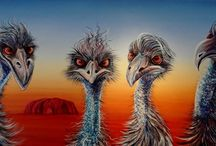 Acrylic Paintings by Linda MacAulay / Linda MacAulay is an Australian Artist whos work reflects the Australian sense of humour.  Painting predominantly in acrylic she creates large scale artworks that capture the essence of the Australian landscape and those WTF moments.