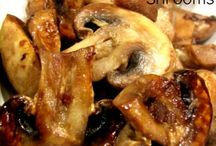 Salteed mushrooms