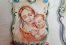 Acquasantiere Angolo Napoli ceramiche