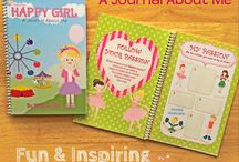 Happy Girl, A Journal About Me, $14.95 / Little girls will surely love this journal! It contains fun and inspiring quotes to motivate you to achieve your goals and dreams! It is a journal as well with interesting guide questions designed for you to reflect and discover yourself, your dreams, talents and more! It also has especially crafted pages to inspire creativity, drawing and writing! It is a great activity book for this summer and a wonderful gift for girls!  http://tinkerstar.bigcartel.com/product/happy-girl-a-journal-about-me