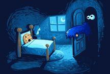 Cookie Monster & Winnie The Pooh
