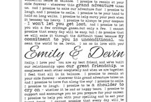 wedding vows<3 / by Melissa Blanton