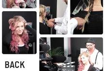 Videodrehs / Starfriseur Dieter Ferschinger zeigt, wie man Extenstions perfekt setzt, romantische Zöpfe flicht und mit TINT Haarpuder für den knalligen Ombré Look im Haar sorgt