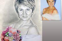 Портрет карандашом / Портрет по фото карандашом на текстурной бумаге