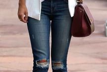 jeans and flats/sneakers