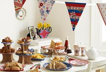 British Street Party / Patriotism is the key to any British street party and Past Times has a fantastic selection of party ware to turn your street into a great British shrine. Pile the tables high with classic party food – dainty sandwiches, sausage rolls, cheese and pineapple, fairy cakes and Victoria sponges – all displayed on our boldly-coloured Street Party paper plates and platters. And remember... no British street party is complete without bunting! View more ideas at PastTimes.com
