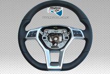 Lenkrad AMG Schwarz LederMultifunktion steering wheel Mercedes A B C CLS E SLK CLK CLA GLK SL GLA 176 246 W204 W212 A1724603903