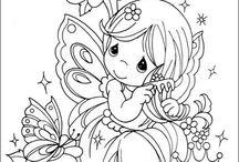 coloring children fairies alike