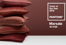 Marsala - Pantone color of the year 2015 / Marsala is really a very attractive color, it involves wills, desires, it is close of the ocher (that master a lot) tones and of the wine. Very beautiful that color.