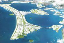 Planes urbanísticos / Proyectos para la ordenación del territorio y mejoras de las ciudades, que llaman la atención por su ambición, y/o por su cualidades paisajísticas y sostenibles.