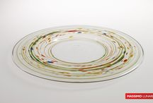 Plates Massimo Lunardon / plates blown glass made in italy