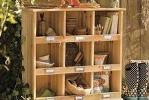 Outdoor Storage / Lawn games, cookware, gardening tools... Creative storage solutions for your outdoor space.