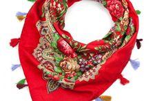 Triangular, cotton shawls / 100% ethno. Perfect for autumn.