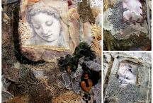"""My On-line class - Fabric Lace Book """"Peaceful and Pondering"""""""