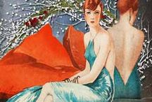 Vintage Style Christmas / Beautiful Vintage fashion Yuletide Images, postcards, greeting cards from the halcyon days of the Victorians, Edwardians, 1920s, 1930s, 1940s and the 1950's / by Glamour Daze
