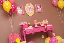Anniversaire rose jaune // pink and yellow birthday