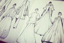 MODE SKETCH / ▪When it comes to Fashion: I LOVE to create and draw the piece and sew it by Myself▪