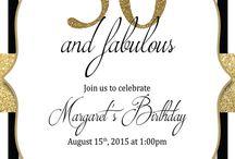 Mums birthday invitations