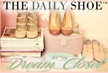 The Daily Shoe Dream Closet / My mood board is not just about the shoes. Of course it shows all the styles of shoes I like, but also shows the different aspects of designing a dream shoe closet, such as . . . Lighting fixtures, types of lighting (ambience), paint swatches, wallpaper patterns, wall art, closet layouts, textures, furniture, etc. My mood board represents LUXURY, OPULENCE, ELEGANCE with a dash of QUIRKY.