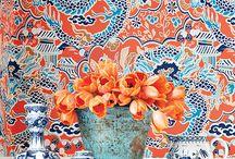 Thibaut - Imperial Garden / Коллекция тканей и обоев в стиле шинуазри
