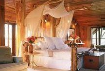 my house ideas=bedrooms / by Julie Jones