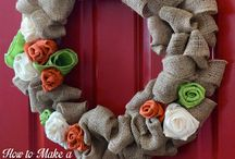 Burlap fall decorations / by Leslie Spano