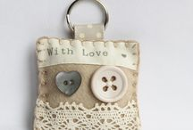 Vintage with lace key ring