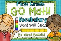 Grade 1 Math word wall