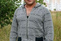 Мужская вязаная одежда