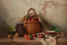 Paintings for the Kitchen / An earthy and inspirational collection of paintings to enhance any kitchen or breakfast area.