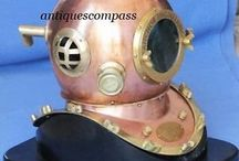 Divers Diving Helmet / Brass & Copper Divers Diving Helmet.