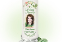 Custom Memorial Photo Candles / Custom Memorial Candles comes in a lovely selection of various designs and styles for a loved one's photo and available in votive, pillar, glass, and LED. Matching funeral service programs also available.