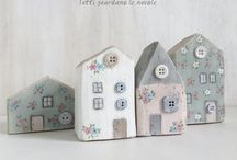 Wooden little houses