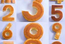 numeral cakes