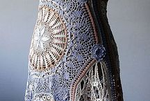 Crochet skirts, dresses