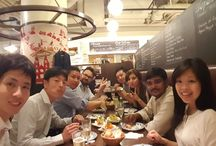 MarketOne Japan dinner / MarketOne Japan at a recent dinner organized to welcome new colleagues to the Tokyo office. Also included a surprise birthday cake! Good times!
