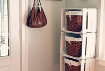 Genius storage ideas / folded clothes Something other than a dresser Easy access