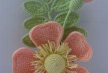 вязаные цветы / блоки