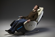 Yu•Me Massage Chair / The World's Only Rocking Massage Chair. Proprietary body scan technology customizes the massage to the location of your shiatsu points. Thera-Elliptical-Kneading expertly massages your calves, while the neck stretch pillow provides acupressure massage, all to the calming hues of color kinetic lighting.