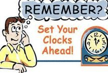 Daylight Savings Spring Forward / Hey, if you have to lose an hour of sleep, at least you know spring is on the way!!