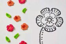 piccoli fiori uncinetto