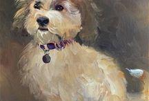 Doggie paintings