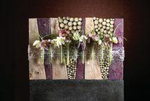цветочная композиция на стену