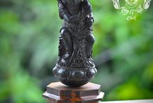 Detail Hand Carved Kris Handle Knife Sword Arang Wood God Shiva Legend Rare One Of Kind