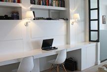 Werkhoek woonkamer