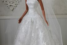 Bridal Dolls / Barbie and other dolls ready for their wedding day