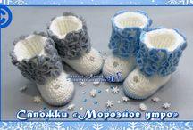 Вязание- тапочки пинетки....