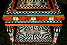Madera pintura patrones