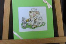 moje prace / easter card, cross stitch, handmade,