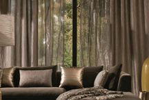 Modern curtains living room